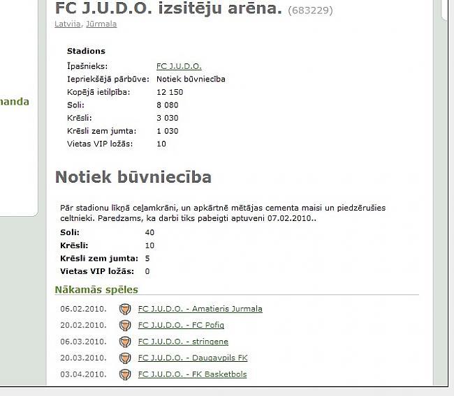 Stadions Autors: Fosilija Spēles apskats: hattrick.org