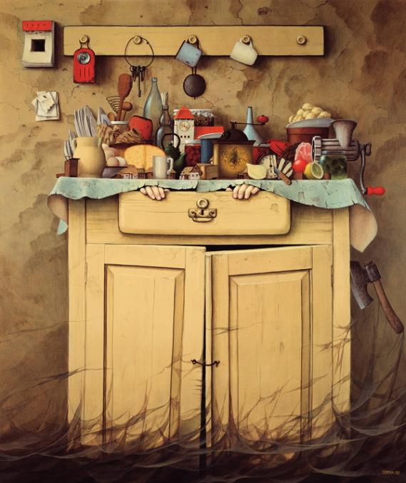 cupboard sunset  jacek yerka Autors: Fosilija sirreālisma nekad nebūs par daudz.