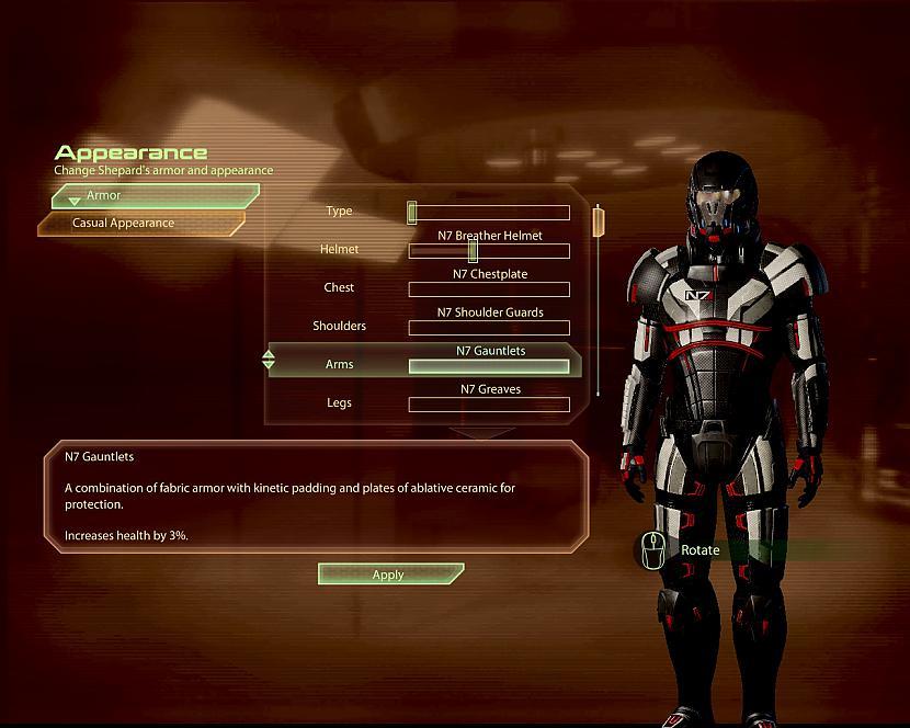 Bruņu izvēles termināls Autors: RūdisPH Mass Effect 2 recenzija.
