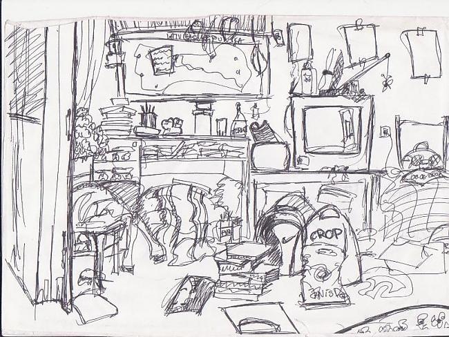 Mana istaba pirms gada Autors: Karmena Izlaide