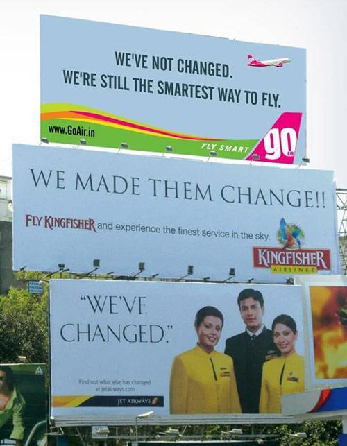 3 aviosabiedrību reklāmas... Autors: MataHari Kreatīvas reklāmas!