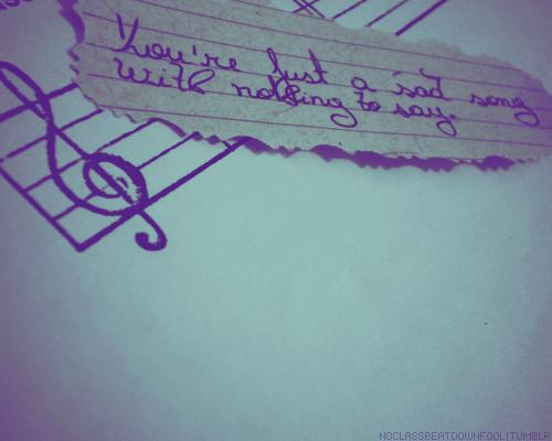 Each song has its own secret... Autors: BeautifulChaos Work Of Art
