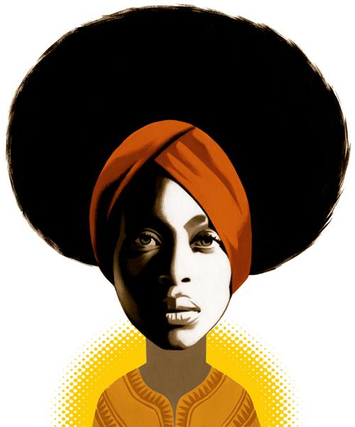 Erykah Badu on 70039s Soul Autors: Krekeris Ilustrācijas