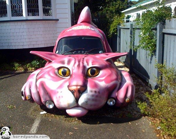 Kaķu Auto Autors: Fosilija Top 20 Visdīvainākās mašīnas
