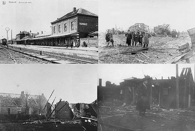 Hamontas stacija Beļģija 1918... Autors: YogSothoth Ellišķīgākie sprādzieni