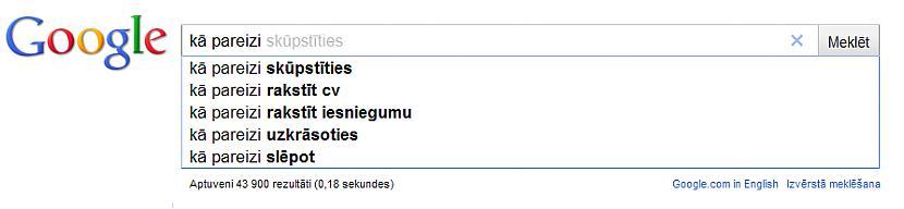 quotKā pareizi skūpstītiesquot... Autors: Pieaudzisspoks Kas latviešiem interesē visvairāk iekš Google