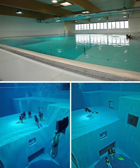 Pasaules dziļākais iekštelpu... Autors: MJ 10 fascinējošākie pasaules peldbaseini!!