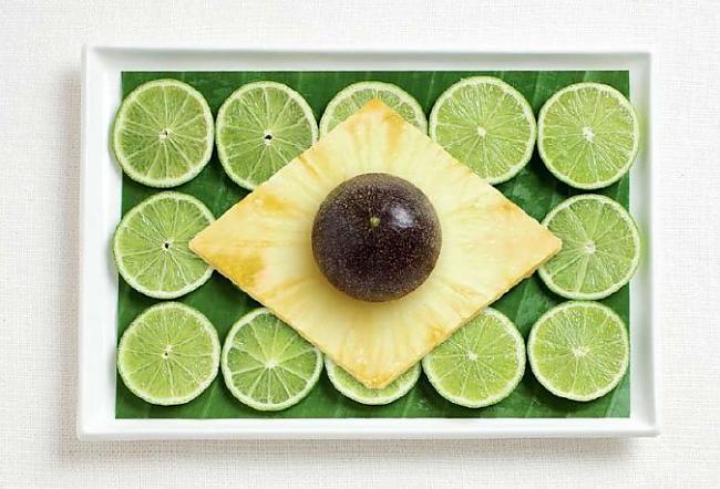 Brazīlija Autors: CoffeeQueen Valsts karogs no ēdiena