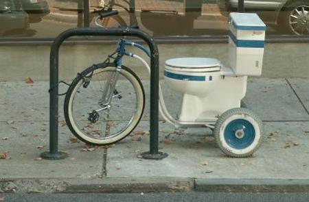Riteņtualete Autors: LVmonstrs Unikāli un kreatīvi velosipēdi