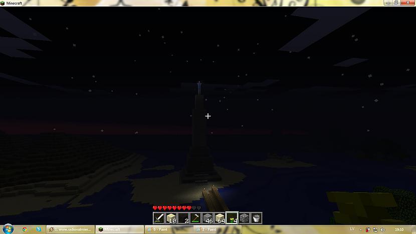 skats naktī kad zvaigznes... Autors: silveriits Brīvības piemineklis (minecraft)