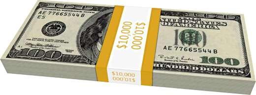 Šādi izskatās 10 000  paciņa... Autors: Fosilija Kā izskatās triljons dolāru?