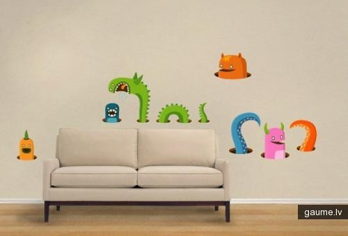 Bērniem patiktu Autors: cepumsyo Sienu mākslinieciskā apdare.