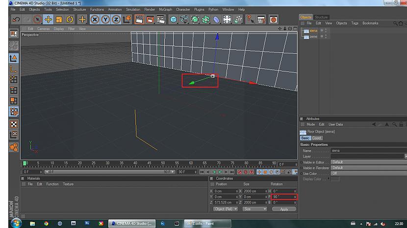 Vienu no grīdām pagriežam pa... Autors: BuzzBomb 25 soļi, kā izveidot 3D ekrāna tapeti