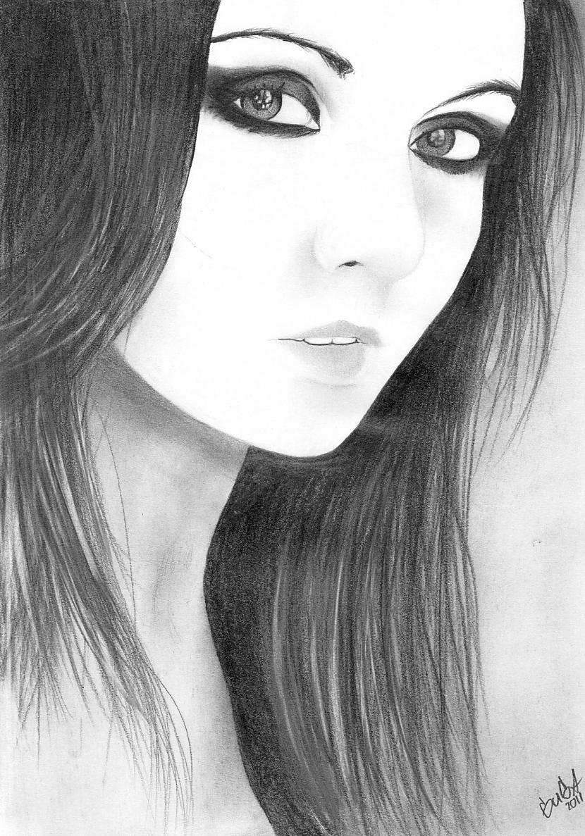 Portretus zīmēju no... Autors: guga07 Made by guga