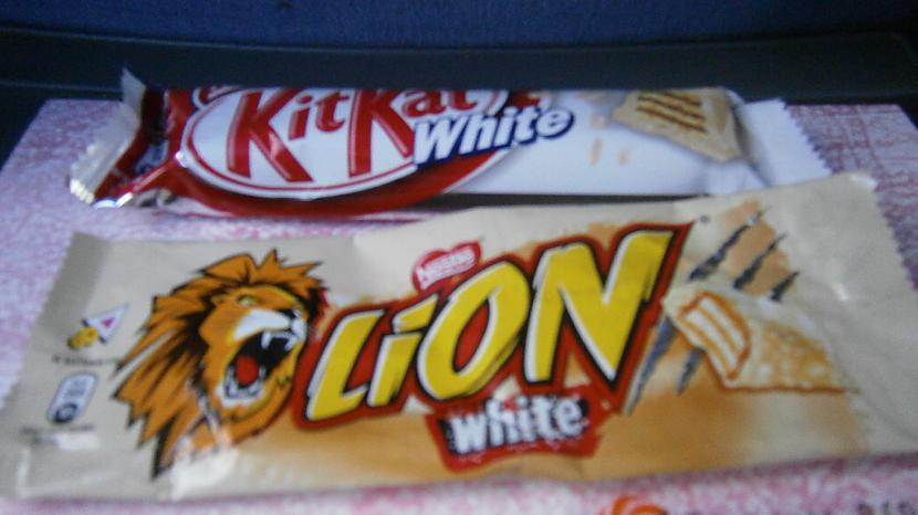 Lion White un Kitkat white ... Autors: Dobis Eiropas Gardumi!