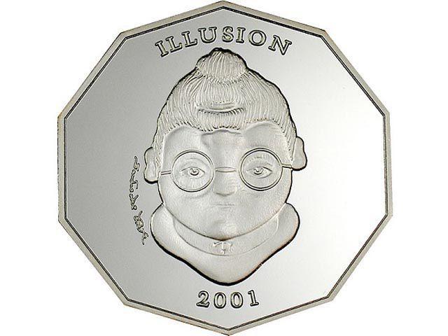 Libērija 2005 10 dalāri Autors: iDIE 18 neparastākās monētas pasaulē.