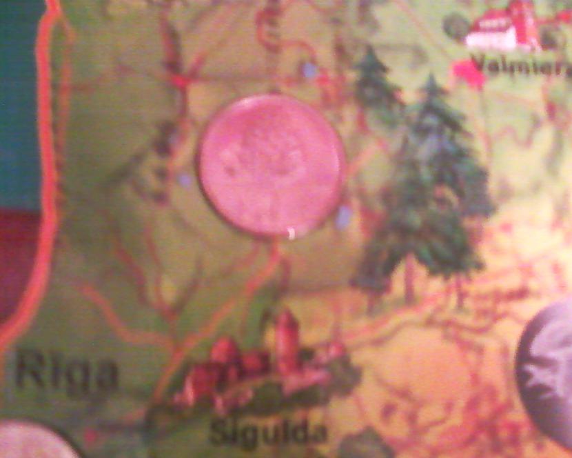 Čiekura monēta Autors: NUCKAL Mana LV 1latnieku kolekcija!!!