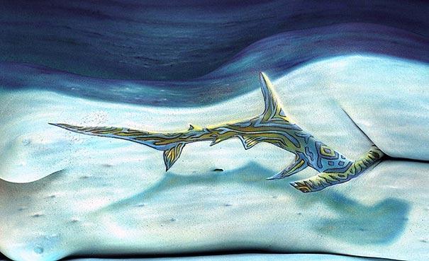 Āmurgalvas haizivs Autors: Fosilija Body art!