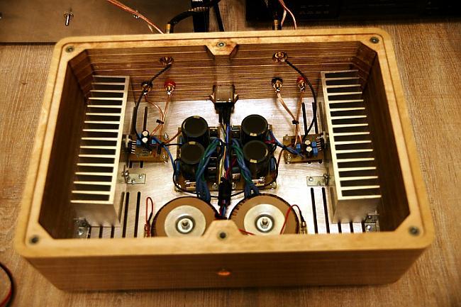 Korpuss tika izgatavots... Autors: BLACK ALIGATOR Jaudas pastiprinātājs izmantojot mikroshēmu OPA 549...