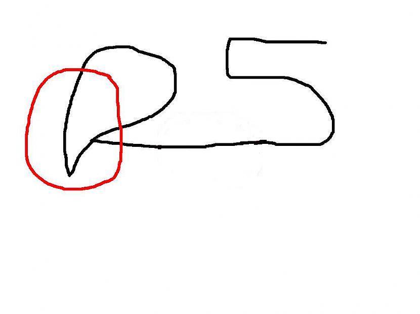 pie 2 pieliekam divainu... Autors: Fosilija Kā no skaitļa 25 uzzīmet suņa galvu