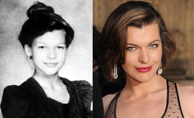 Mila Jovovich Autors: Kobis Filmu zvaigznes jaunībā un tagad