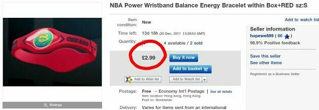 Power Balance aproce Autors: Breds Pits eBay vs LV internetveikali
