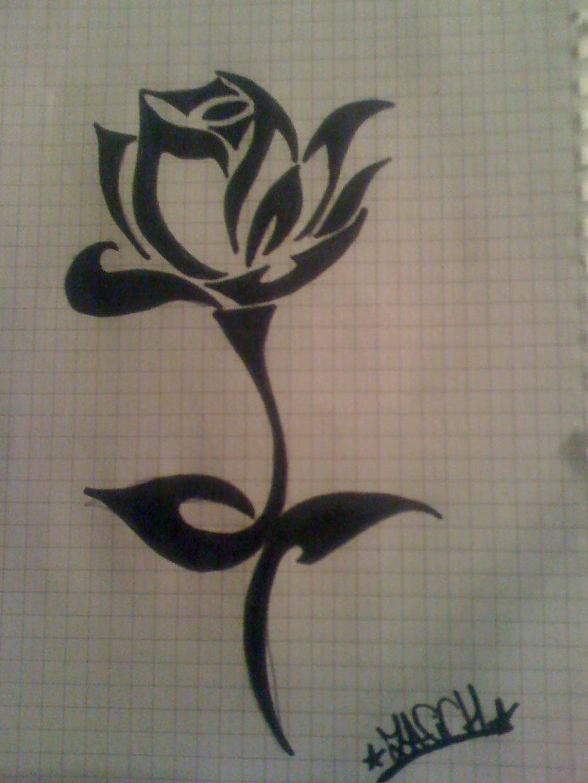 Tribal rose Autors: ZaSiCh Some my drawing