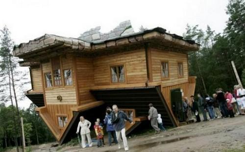 Otrādi apgriezta māja  tas ir... Autors: Nikon259 Dažas ļoti interesantas celtnes pasaulē