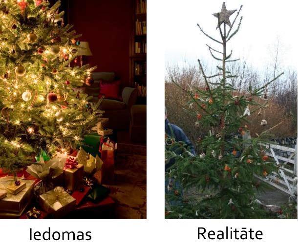 Kad izrotā Ziemassvētku eglīti Autors: mazaaaalaura Iedomas vs Realitāte
