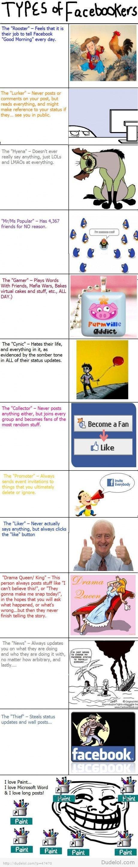 Autors: Akumulators Facebook lietotāju tipi