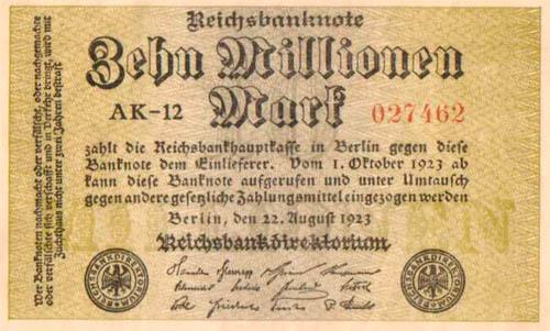 10 miljoni markasKopscaron... Autors: Fallenbeast Vislielākās banknotes pasaules vēsturē