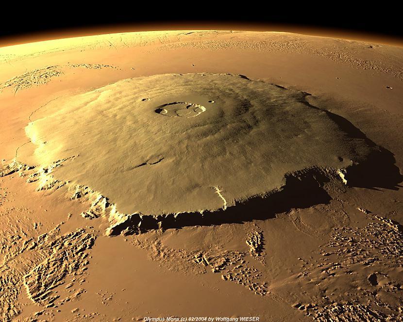 Uz Marsa ir lielākais vulkāns... Autors: sprote7 Visuma fakti - MARSS