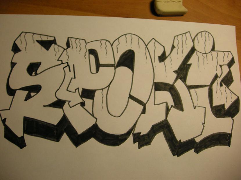 Pieliek mazus tecēscaronanas... Autors: Kazas kungs Kā es zīmēju graffiti