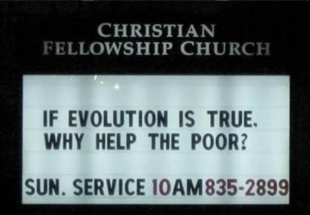 Ja evolūcija ir patiesa  kādēļ... Autors: Budzisss Baznīca mēģina jokot...