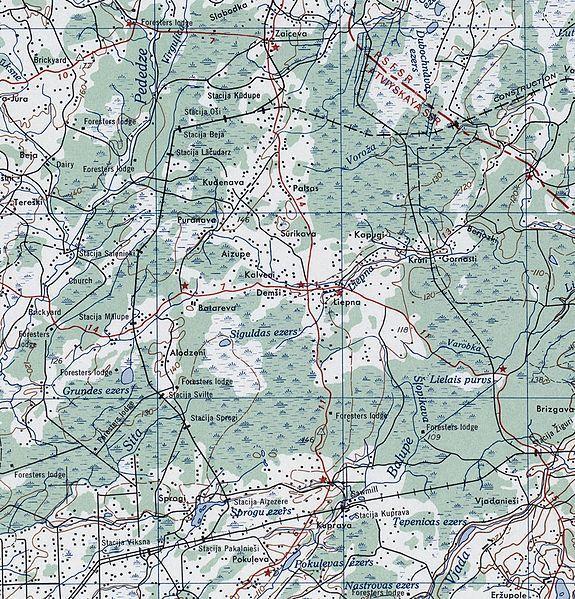 Karte Autors: nikloss Līnija Kūdupe - Pakalnieši.