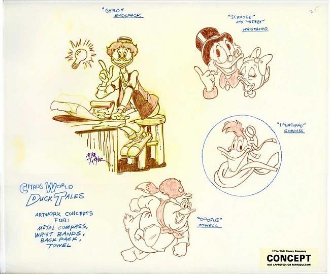 Duck Tales 1987 gads Autors: zhagata13 Multeņu varoņi mākslinieku skicēs