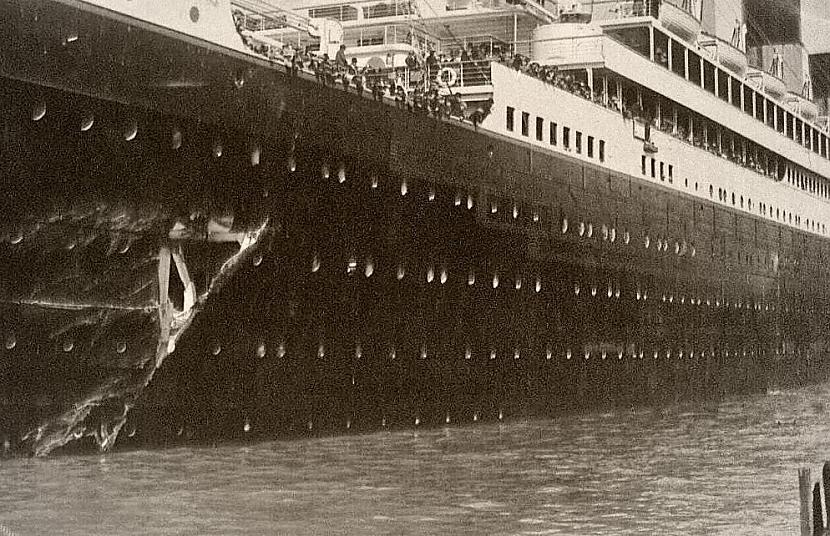 Olimpija atgriežas ostā lai... Autors: Werkis2 Titānika māsas kuģis Olimpija.