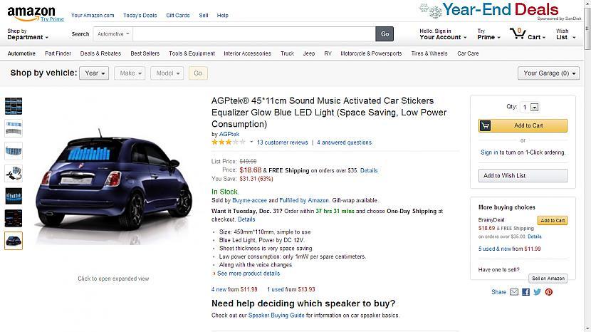 nbspAGPtek zilas LED gaismu... Autors: Fosilija Superīgas preces internetā.