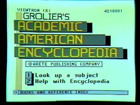 Tiescaronsaistes enciklopēdija Autors: Werkis2 Viewtron 1983 - Internets  pirms Interneta.