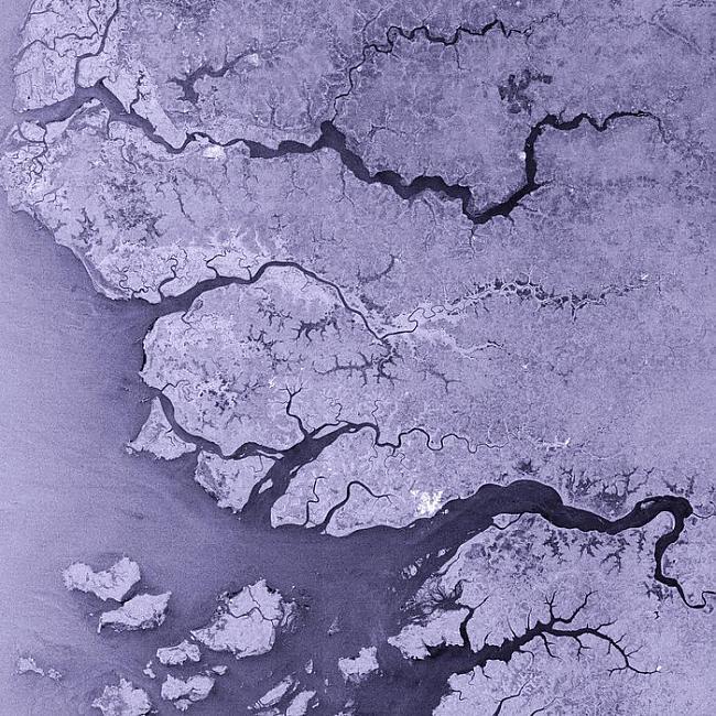 Gluži kā asinsvadi upes... Autors: Prāta Darbnīca Neparasti attēli no Zemes orbītas
