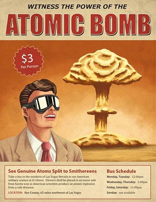 Populāras bija arī ballītes... Autors: Prāta Darbnīca Ballītes, kas notika uz atombumbu sprādziena fona