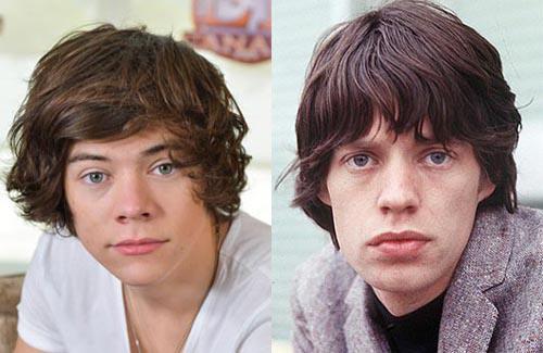 """Harry Styles  Mick Jagger Autors: VecisPaDzīvi Slavenības kuras """"Ceļo laikā"""""""