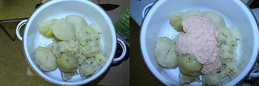 Liekam nomizotos vārītos... Autors: Sforca Debešķīgais kartupeļu biezenis