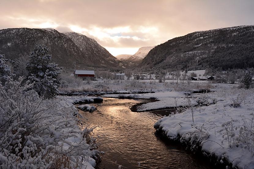 Fitjeelva Norvēģija Autors: Fosilija Vai nu šādu ziemu, vai nekādu