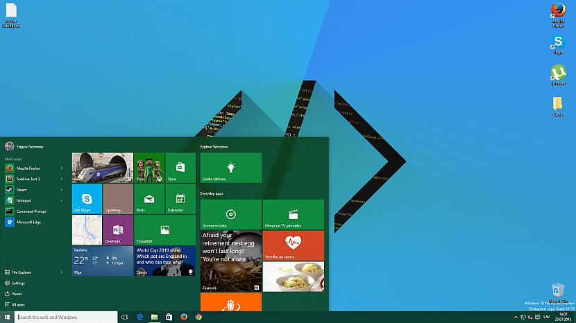 Sākuma izvēlne Autors: jamesonz Par Windows 10
