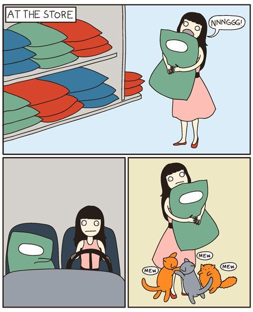 Autors: Elna Lce Super-garais kaķu komiks.