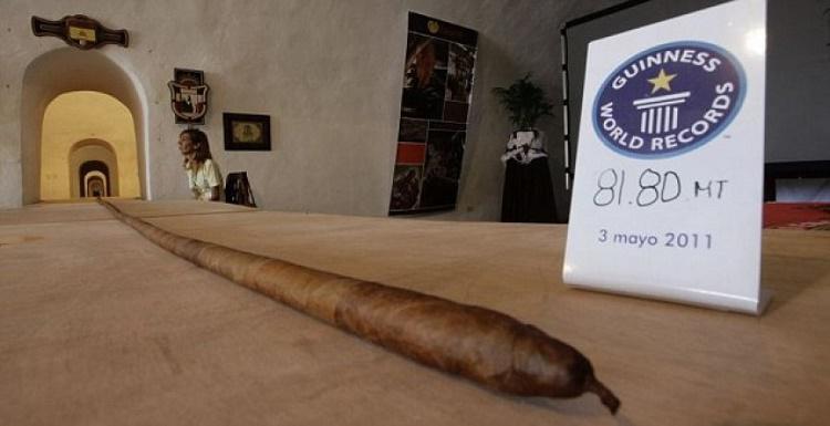 Garākais Kubas cigārsKuba... Autors: Tavs kolēģis Dīvaini pasaules rekordi! Skaļākais krāniņš pasaulē!