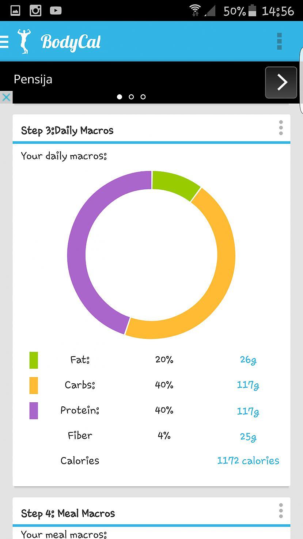 Aplikacija izrēķināja cik... Autors: testmyluck Kā noskaidrot savu macros(u)
