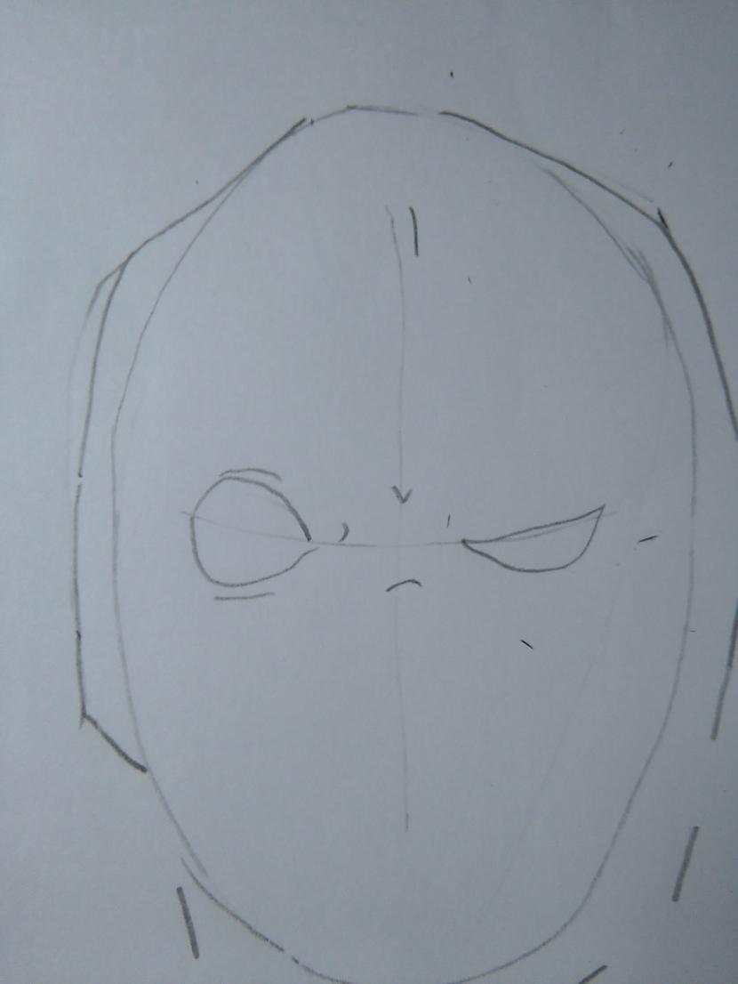 """Zīmējam acis Autors: Fosilija """"Deadpool""""soli pa solim."""