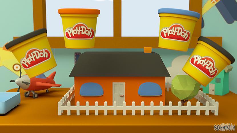 Autors: Peter Lloyd Māja no playdoh. Mācāmies krāsas (animācija)